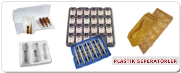 Plastik Vakum Seperatör; Kutu İçi, Yedek Parça Taşıma, Ampül İğne, Çikolata Seperatörü